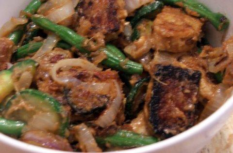 veggies and tempeh